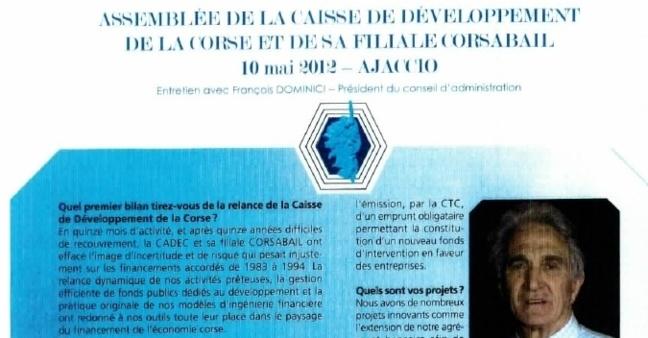Paroles de Corse : Assemblée de la CADEC et de sa filiale Corsabail
