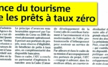 Corse Matin : L'agence du tourismes valide les prêts à taux zero